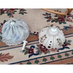 Lampa stylowa z porcelany