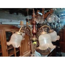 Lampa wisząca stylowa żyrandol 5 ramienny